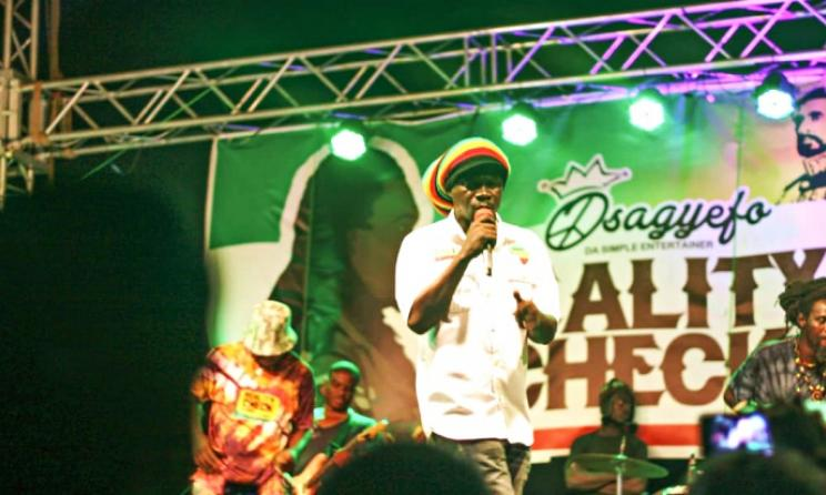 Osagyefo during the Reality Check album launch