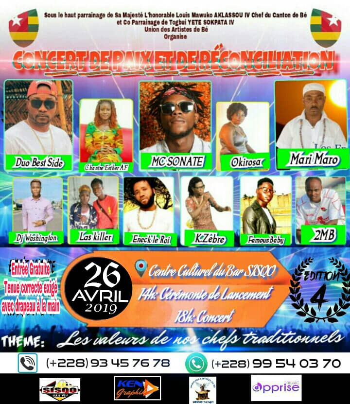 Concert De Paix Et De Réconciliation dans Lome, Togo